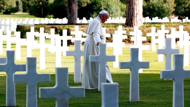 Pope Francis at Nettuno US War Cemetery