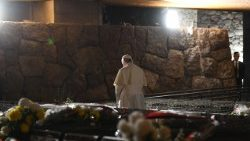 ITALY-POPE-COMMEMORATION-FOSSE-ARDEATINE