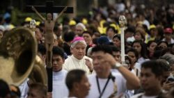 Archbishop Socrates Villegas takes part in protest march