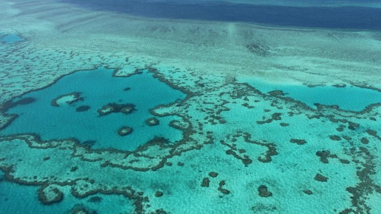 Australia's Great Barrier Reef, threatened by the effects of climate change