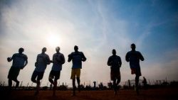 SOUTH SUDAN-UNREST-IDP-FOOTBALL