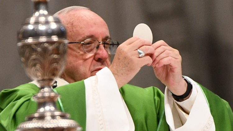 Pope Francis celebrates Mass in St. Peter's Basilica