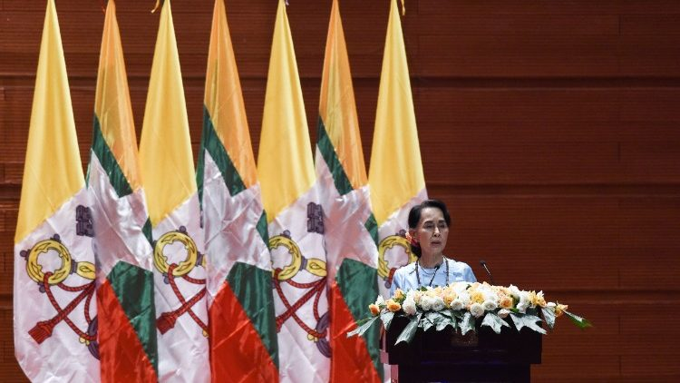 Aun San Suu Kyi addresses Pope Francis