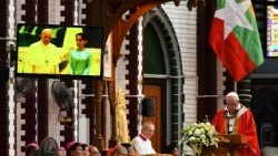 Pope Francis celebrates Mass for young people on his final day in Myanmar