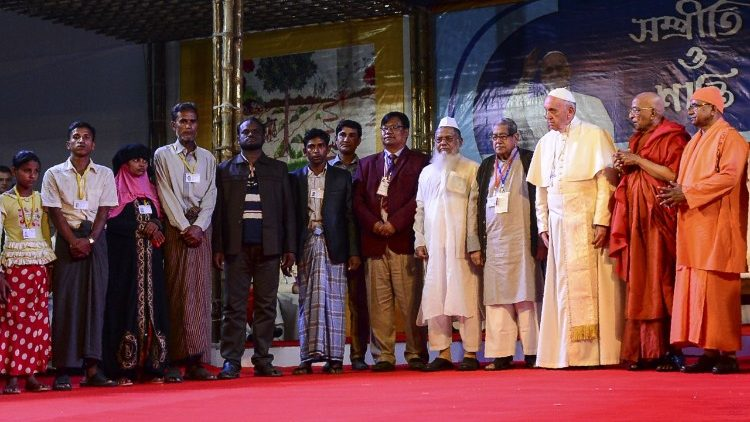 Pope Francis at the interfaith and ecumenical meeting in Dhaka, Bangladesh, on Dec. 1, 2017