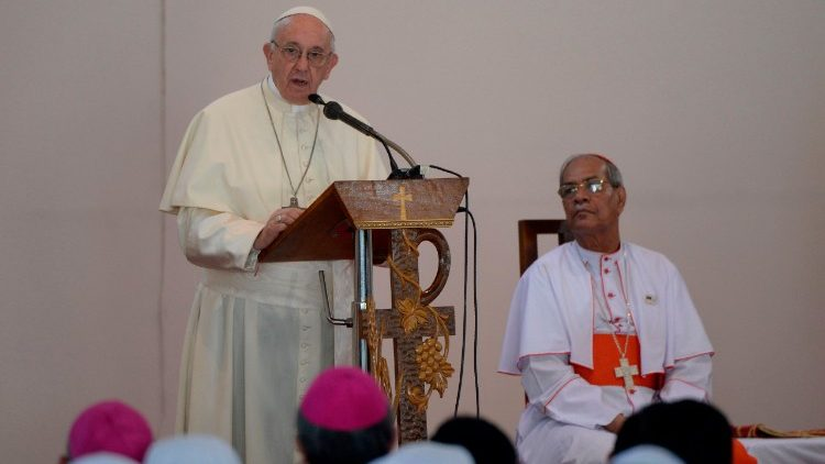 Pope Francis speaks to Priests and Religious in Dhaka