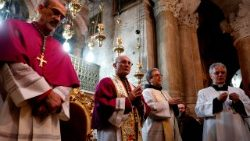 The Bishops at the Church of the Holy Sepulchre in Jerusalem