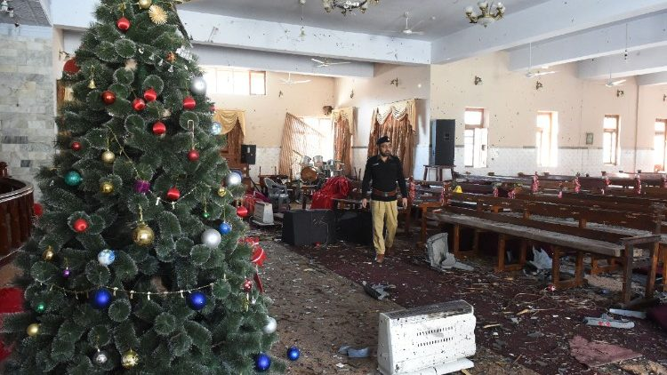 Methodist Church in Quetta following the suicide attack