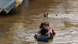 Heavy rains brought by typhoon Vinta caused serious floods in southern Philippines.