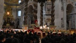Pope at Mass on Epiphany Day in St. Peter's Basilica, 6 January 2918.