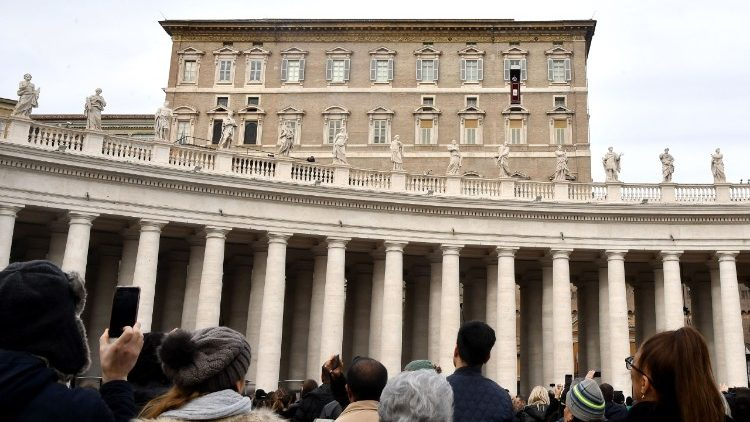 A view of the Vatican's Apostolic Palace from St Peter's Square