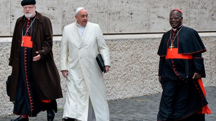Cardinal Seán Patrick O'Malley (L) seen with Pope Francis