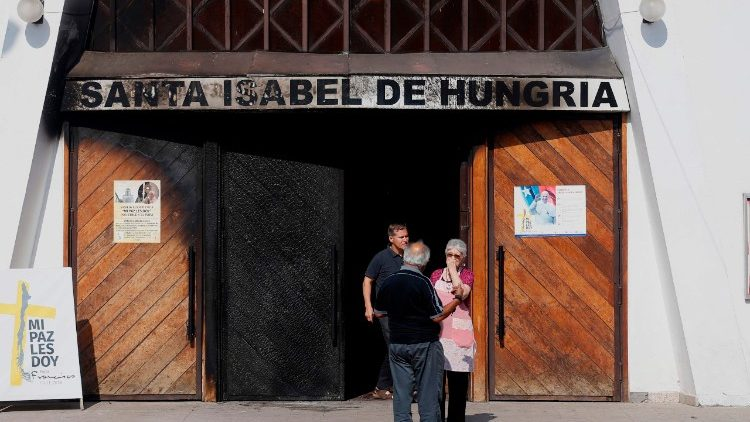 St. Isabel of Hungary Church in Santiago de Chile, where a firebomb attack took place on Friday