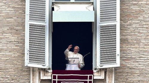 Pope Francis prays the Sunday Angelus