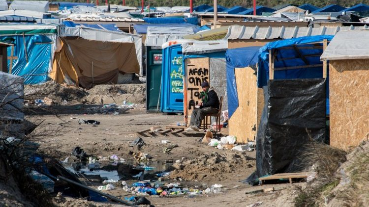 File photo of jungle migrant camp in Calais