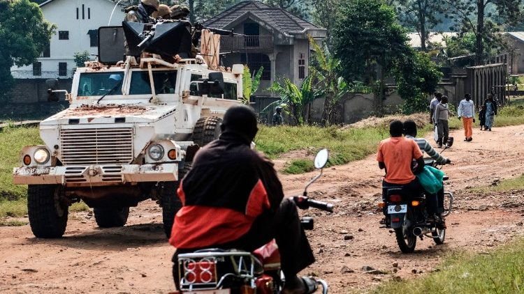 Armed personnel carrier of UN mission in DR Congo