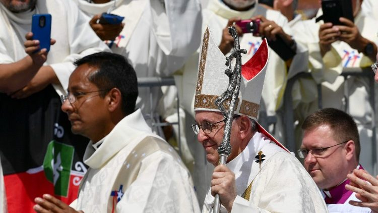 Pope Francis presided over a Mass at Campus Lobito, near Iquique, northern Chile, 18 January 2018.