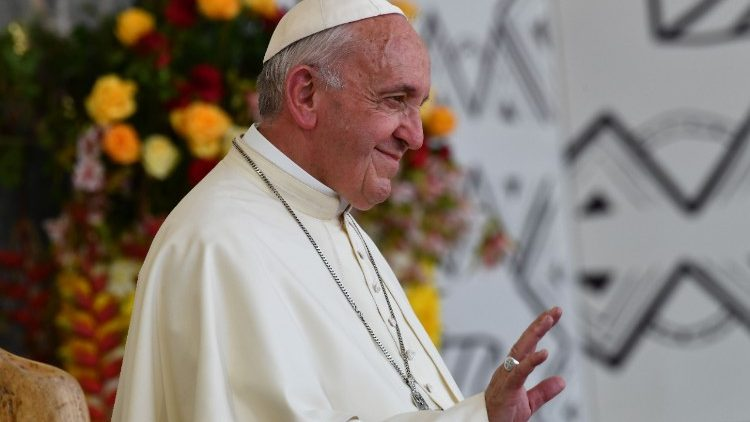 Pope Francis during his visit to Peru
