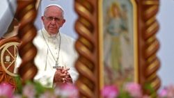 Pope Francis at a Marian celebration in the Peruvian city of Trujillo