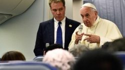 Pope Francis with Director of Holy See's Press office, Greg Burke