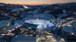 A view of the venue for the opening and closing ceremonies of the 2018 Pyeongchang winter Olympics