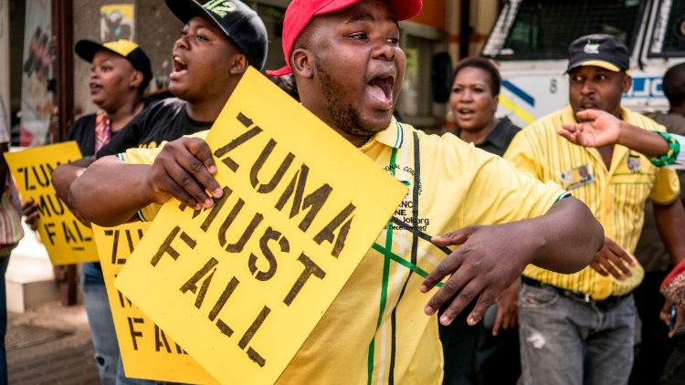 A protest calling for the resignation of President Jacob Zuma