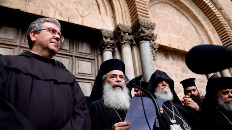 Líderes de las Iglesias cristianas en Jerusalén