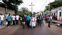 Catholic demonstrators in Kinshasa call on the President to step down