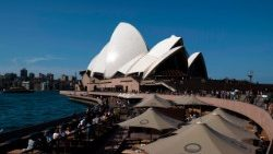 The landmark Opera House in Sydney, Australia