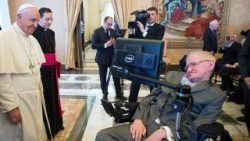 Pope Francis met with British scientist Stephen Hawking in November 2016