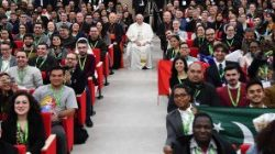 Pope Francis with young people at the pre-Synodal meeting