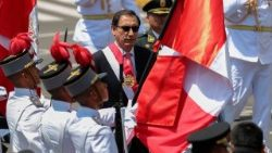 Peru's new President, Martin Vizcarra leaves Congress after swearing in