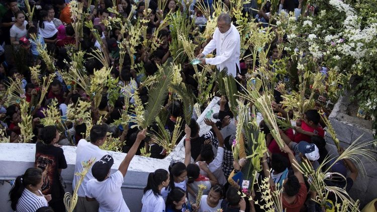 Palm Sunday being observed by Philippine Christians.