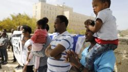 Migranten aus Afrika Anfang April in Jerusalem