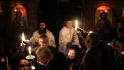 Egyptian Greek Orthodox faithful celebrate Easter in Cairo