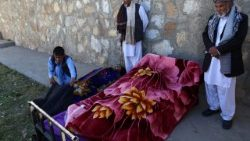 Dead bodies after a Taliban attack on a government post in Afghanistan's Gazni province.