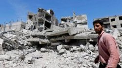 Douma on the outskirts of Damascus, reduced to rubble