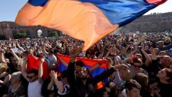 Armenian opposition supporters rally in Yerevan