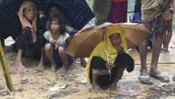 Myanmar's Rohingya refugees in Balukhali refugee camp in Bangladesh.
