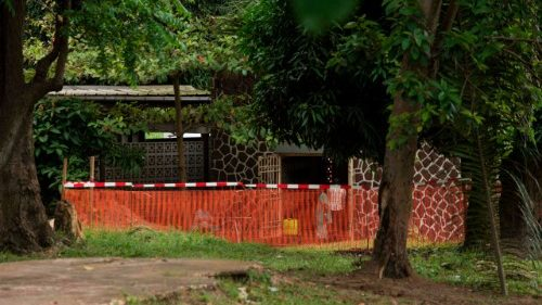 Pre-emptive Ebola security zone at Wangata hospital in Mbandaka