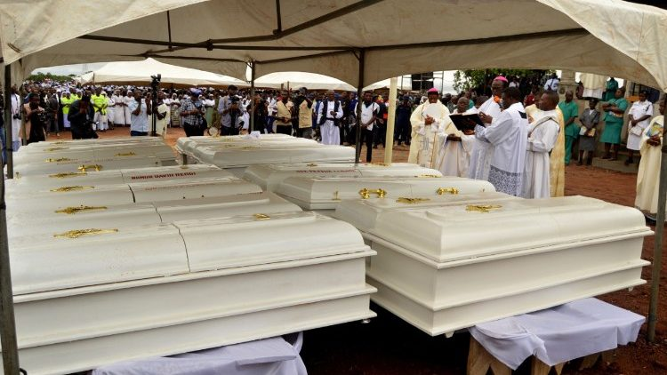 Caskets of 2 priests and 17 parishioners slain in the Diocese of Makurdi