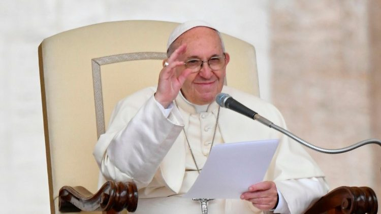 Pope Francis during the General Audience in St. Peter's Square