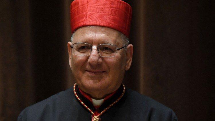Le cardinal Sako, patriarche de Babylone des Chaldéens.