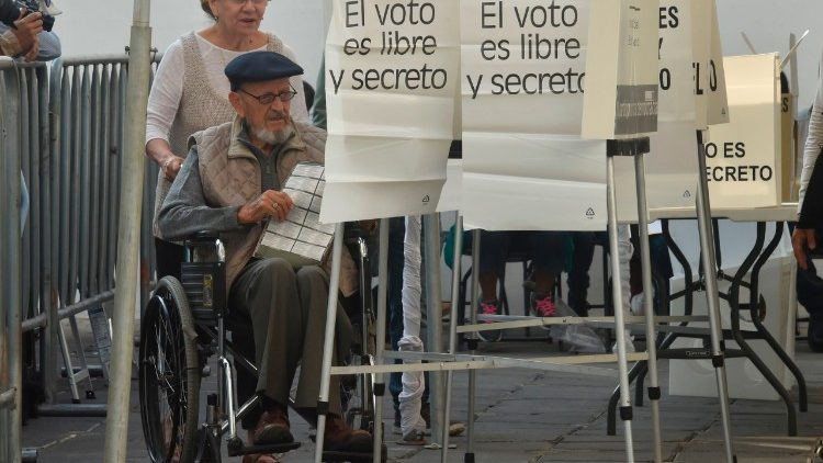Mexicans cast their votes on Sunday during a general election