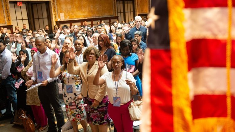 US Citizenship and Immigration Services welcomed 200 new citizens from 50 countries, July 3, 2018