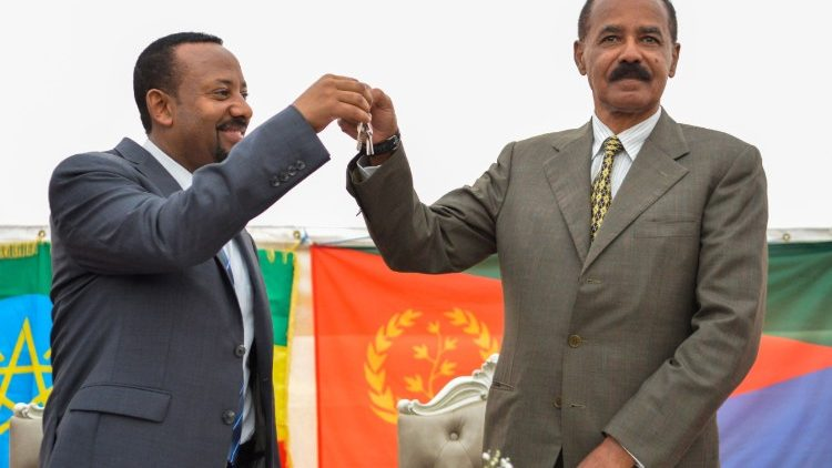 Image result for abiy ahmed  with eritrea president