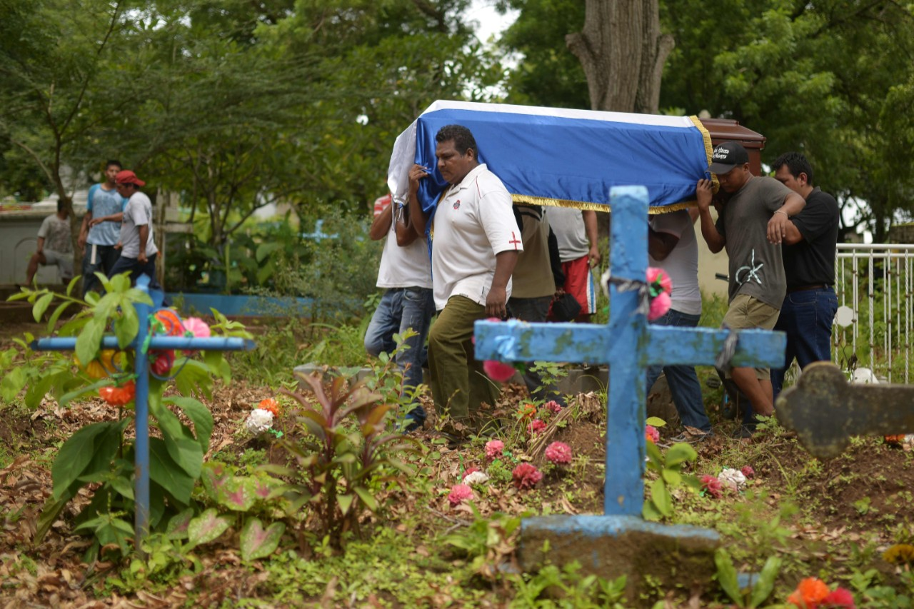 A funeral is held for a protester shot dead by police in Masaya