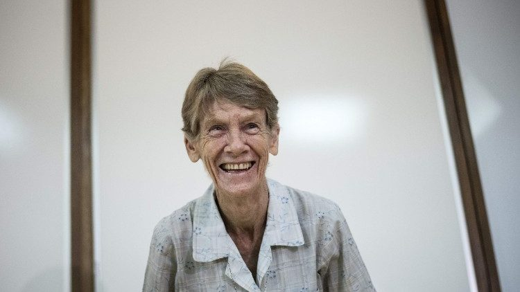 Sr. Patricia Fox NDS of Australia,  a missionary in the Philippines.