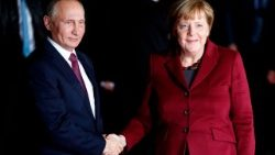 Chancellor Angela Merkel and Russian President Putin