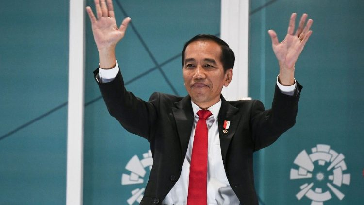 Indonesian president Joko Widodo at the opening of the 2018 Asian Games in Jakarta on Agusut 18, 2018.